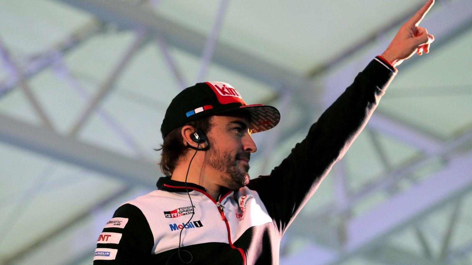 Foto: Fernando Alonso, en la última cita del Mundial de Resistencia en Japón (EFE)