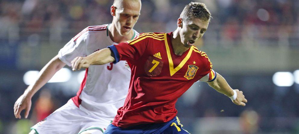 Foto: Muniaín se puede convertir, ante Alemania, en el jugador español con más partidos en la sub-21, con 28.