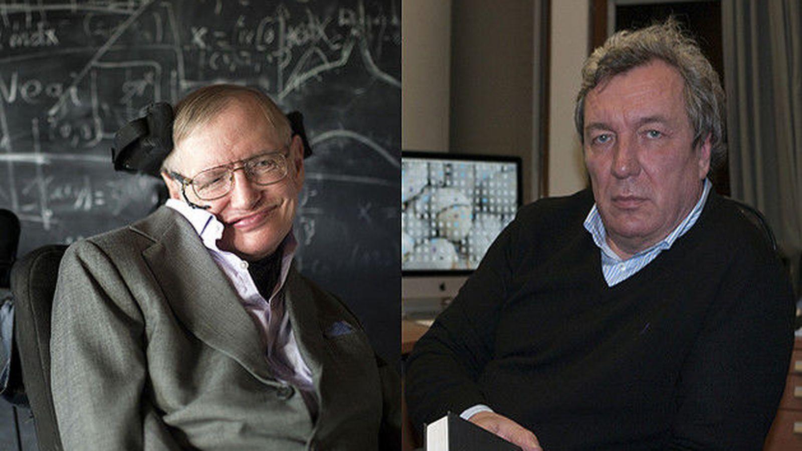 Foto: Los físicos Hawking y Mukhanov han ganado el Premio Fronteras del Conocimiento. (Fundación BBVA)