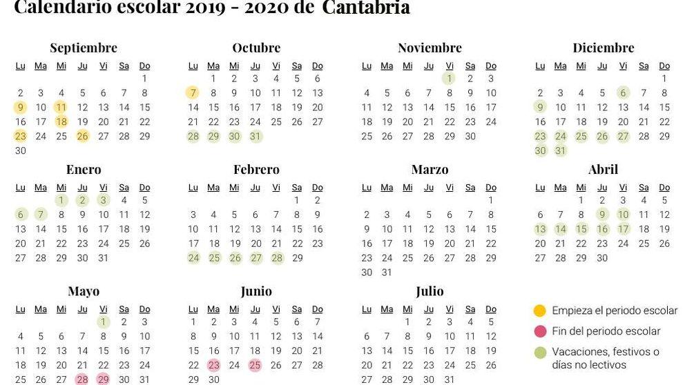 Calendario Fin De Semana 2019.Calendario Escolar 2019 2020 En La Rioja Vacaciones