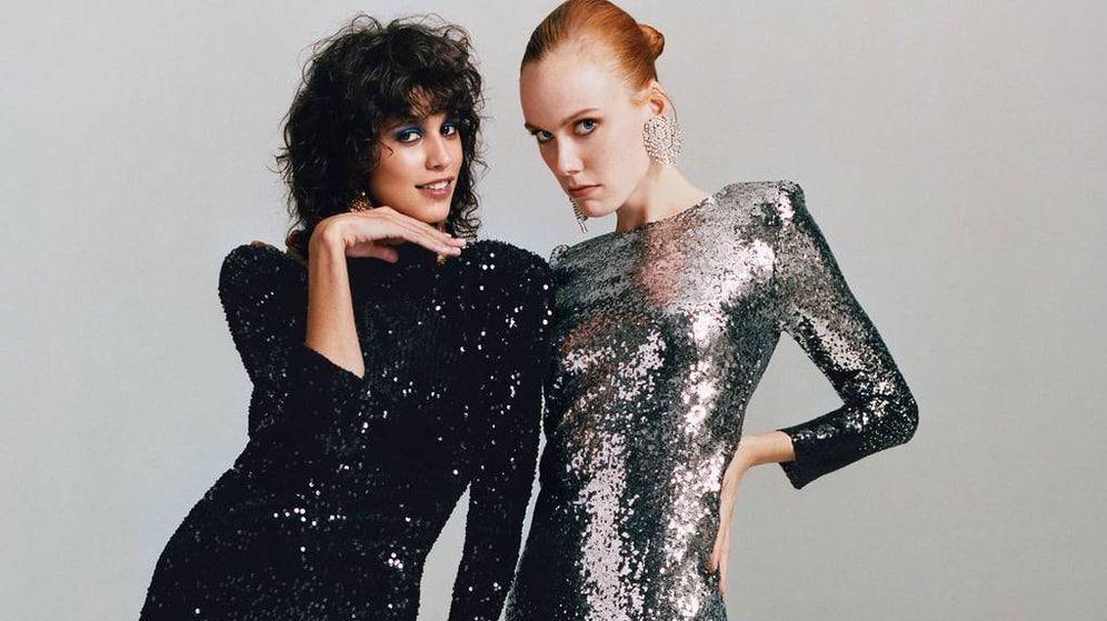 Foto: Lentejuelas y brillo en la colección Dress Time de Zara. (Cortesía)