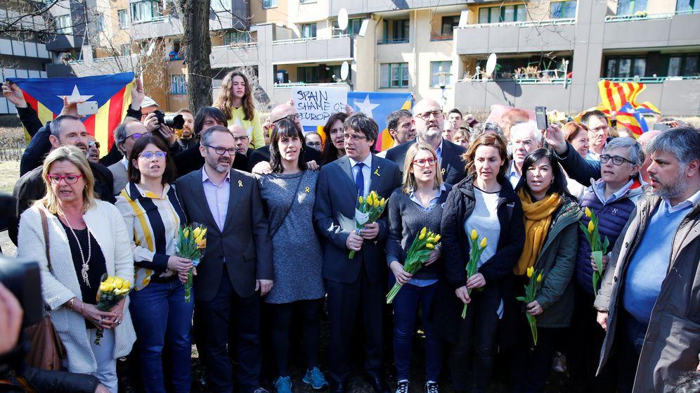 Foto: l 'expresident' Carles Puigdemont durante una comparecencia de prensa en Berlín, el 7 de abril de 2018. (Reuters)