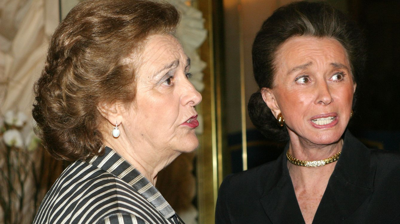 Foto: Teresa Rivero junto a Aline Griffith, condesa de Romanones, en una foto de archivo
