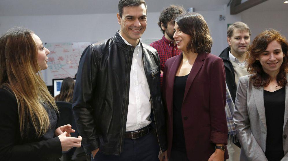 Foto: Pedro Sánchez, este 8 de febrero, durante su reunión con la Asociación Española de StartUps. (EFE)