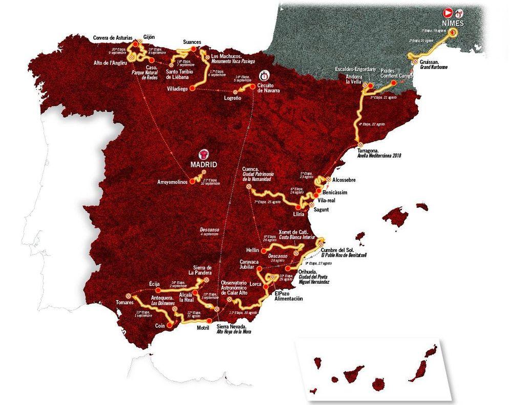 Foto: El recorrido de la Vuelta 2017 (La Vuelta).