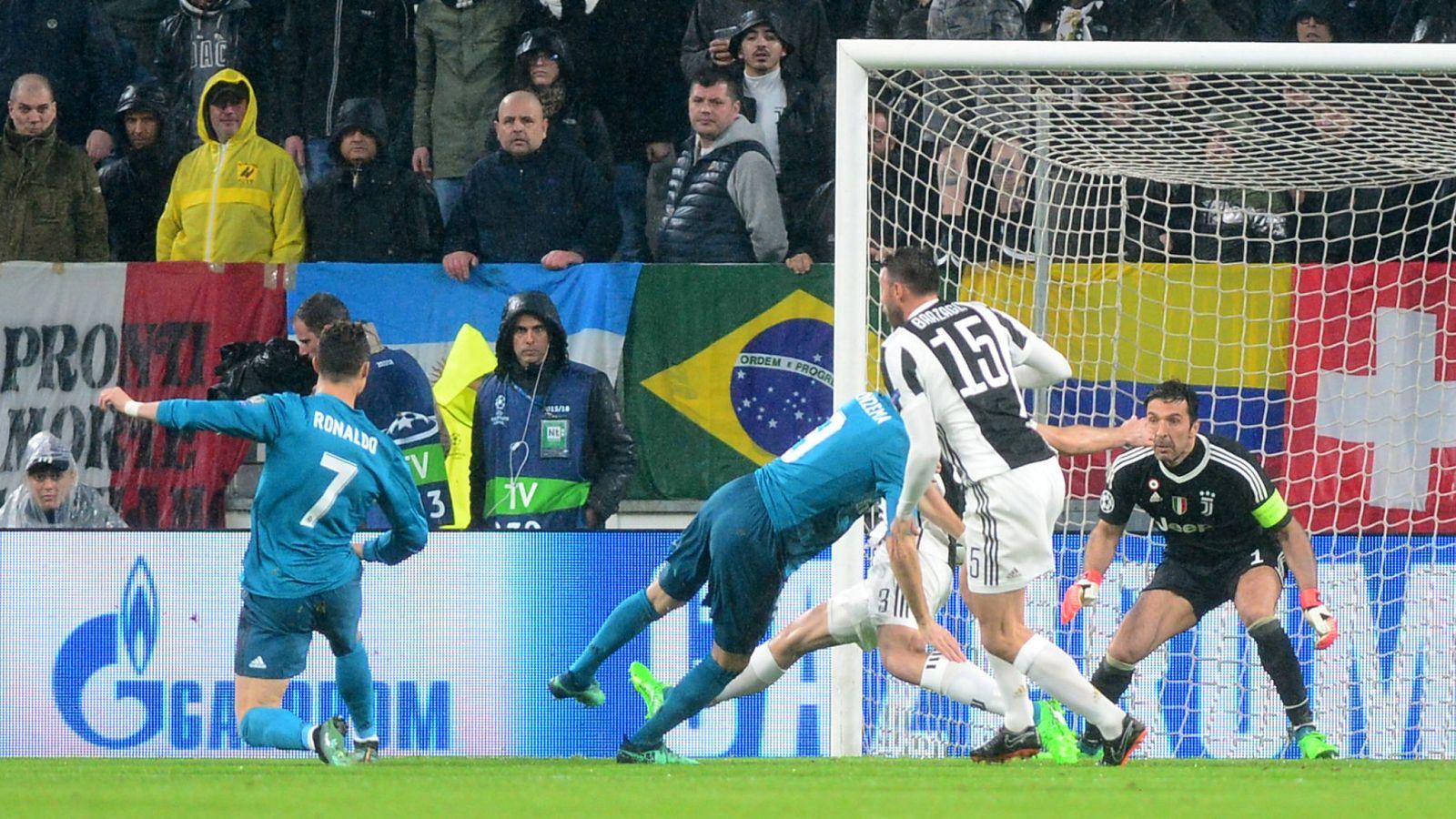 Foto: Cristiano, en el gol. (Reuters)