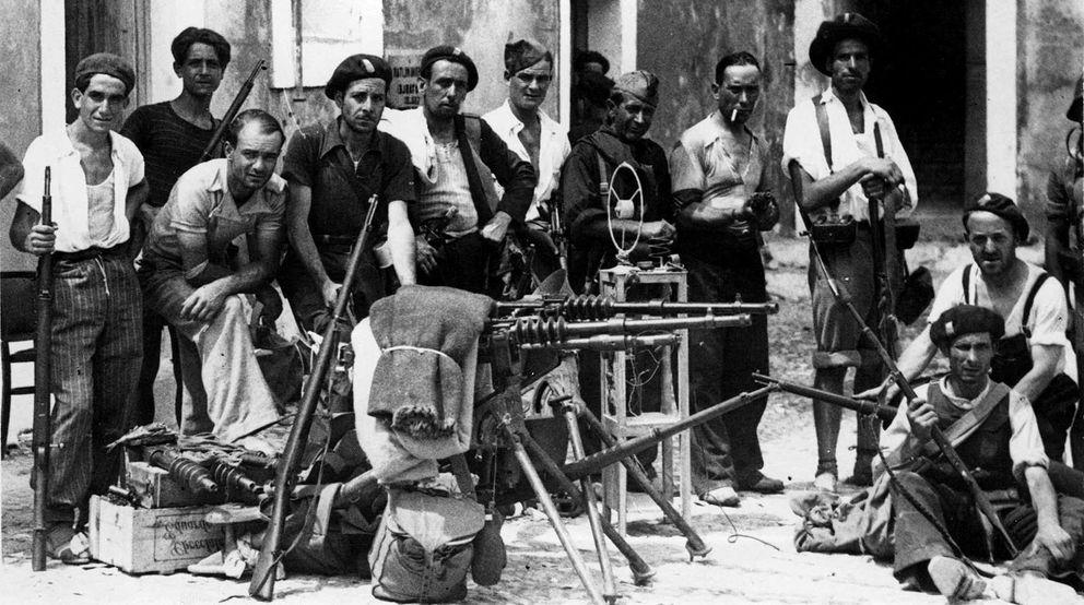 Resultado de imagen de milicianos de la Columna de Hierro