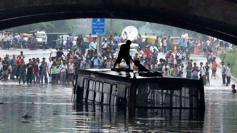 Lluvias monzónicas en Nueva Delhi
