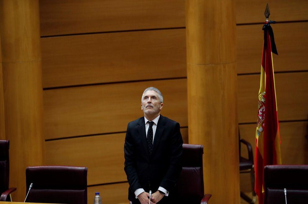 Foto: El ministro del Interior, Fernando Grande-Marlaska, el pasado 29 de mayo en el Senado. (EFE)