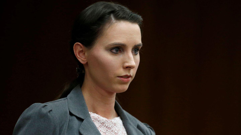 Rachael Denhollander, durante el juicio. (REUTERS)