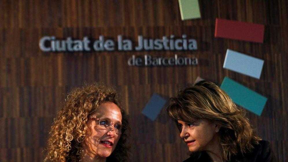Foto: Presentación en Barcelona de la huelga del pasado martes de jueces y fiscales. (EFE/Alejandro garcía)