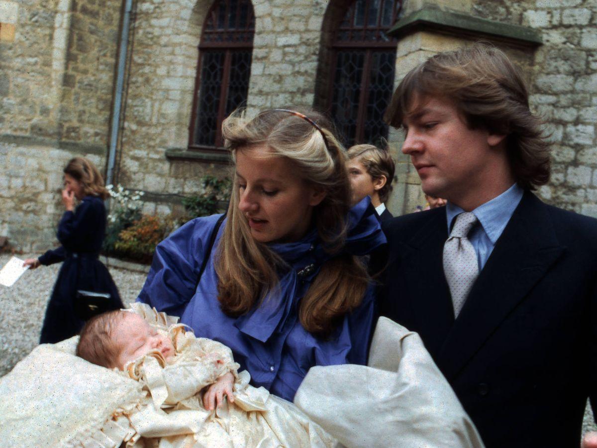 Foto: Ernesto, Chantal Hochuli y su primogénito. (Getty)