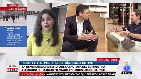 El programa de Cintora atiza a Iglesias y a Sánchez por la subida del precio de la luz