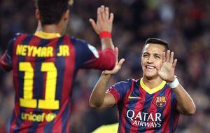La magia de Neymar y Alexis esconde la ausencia de Messi