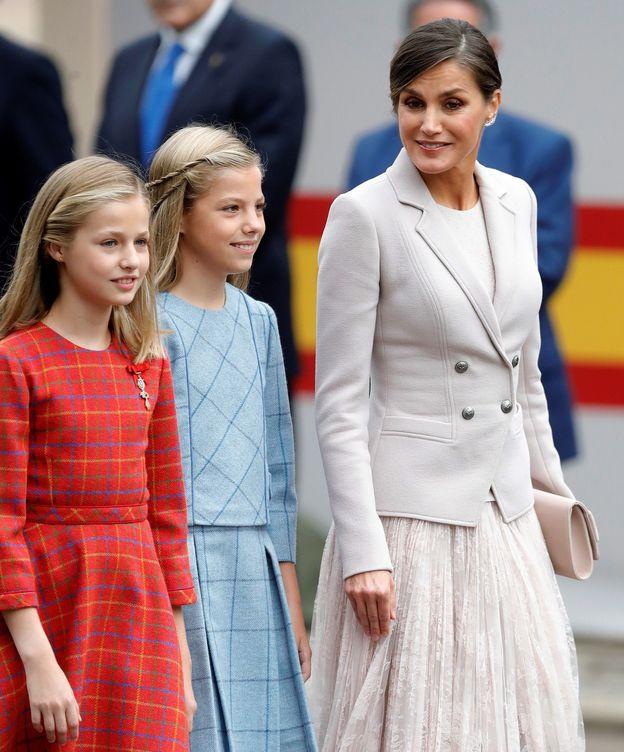 Foto: Letizia, con sus hijas. (EFE)