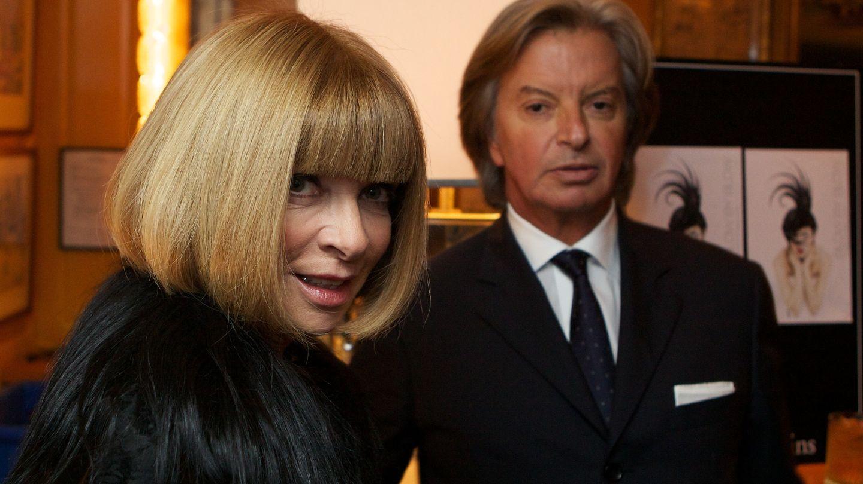 Anna Wintour, directora de 'Vogue', con Richard Caring (Annabel's)