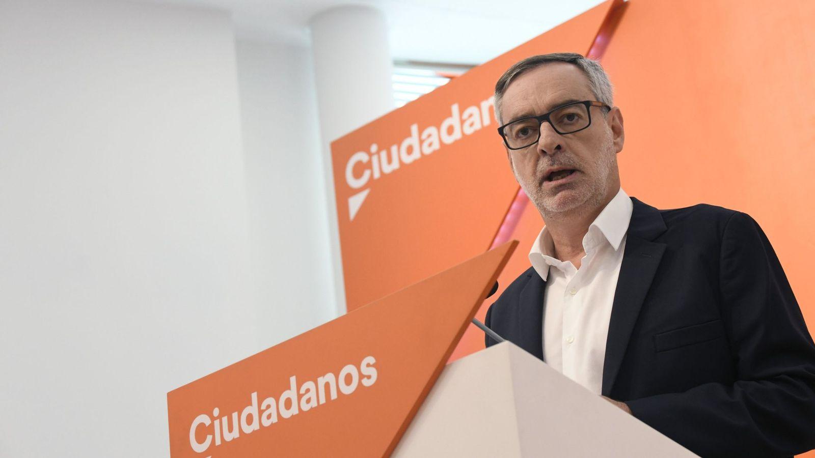 Foto: El secretario general de Ciudadanos, José Manuel Villegas, este lunes tras el comité ejecutivo permanente. (EFE)