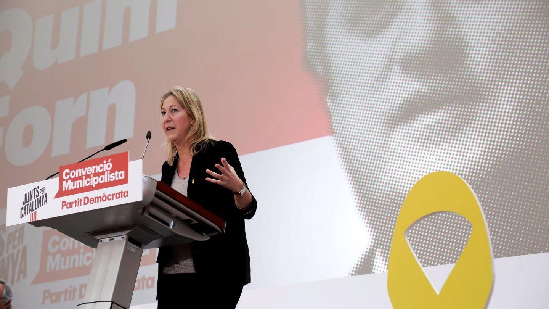 Neus Munté, interviene en la convención municipalista que del partido celebrada en febrero. (EFE)