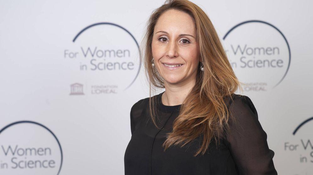 Foto: Javierre, durante la recepción de los premios Unesco-L'Oreal for Women In Science