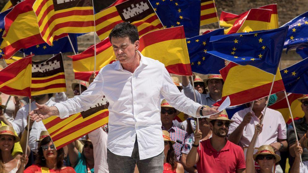 Foto: Manuel Valls, en un acto organizado por Ciudadanos en Pama el pasado mes de julio (Efe).