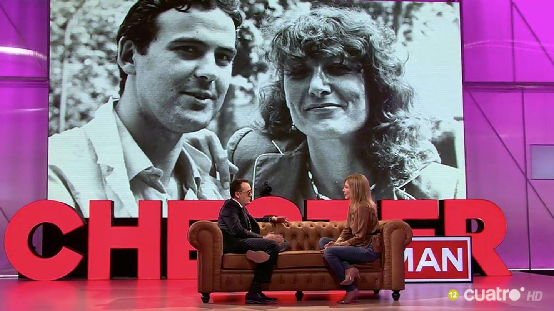 Pilar Eyre junto a su marido Ferran, fallecido hace unos años.
