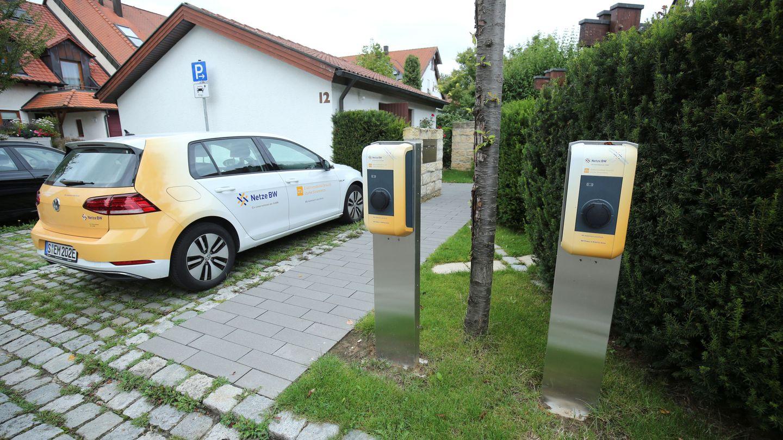 Un punto de recarga para coches eléctricos en Ostfildern (Alemania). (Reuters)