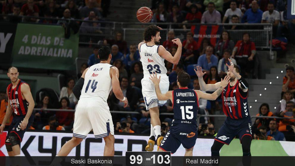 Llull no se quema en el infierno del Buesa Arena y lleva al Madrid a otra final