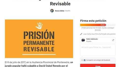 Más de 200.000 firmas para mantener la prisión permanente revisable