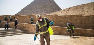 Post de Egipto desinfecta las pirámides para combatir la expansión del coronavirus