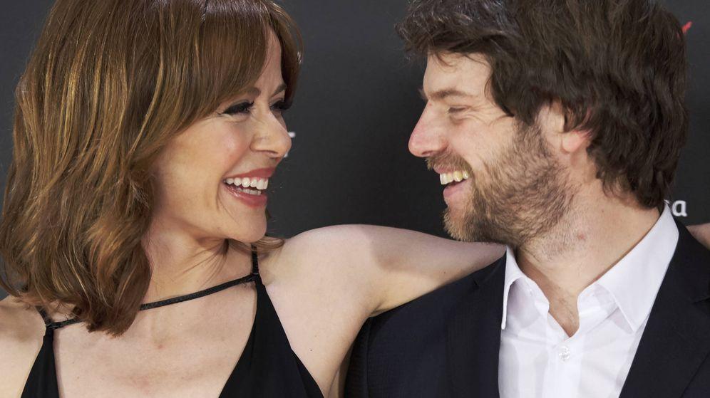 Foto: María Adánez y su pareja, Ignacio Hernández. (Getty)