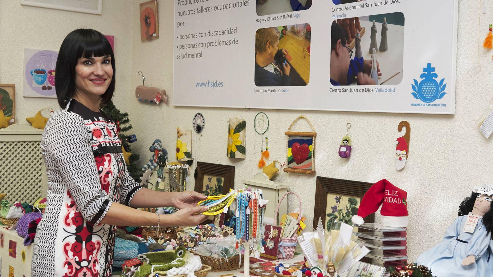 Foto: Irene Villa, en un mercadillo solidario. (Getty)