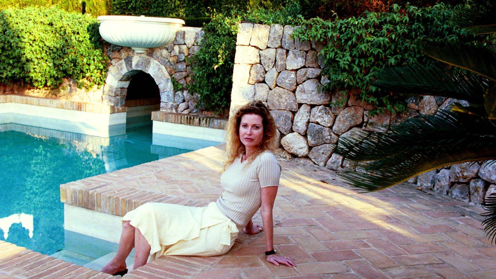 Foto: Diandra Luker, exesposa de Michael Douglas, en su casa de Mallorca. (Gtres)