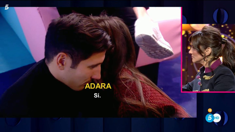 Adara y Gianmarco, en 'GH VIP 7'. (Telecinco)