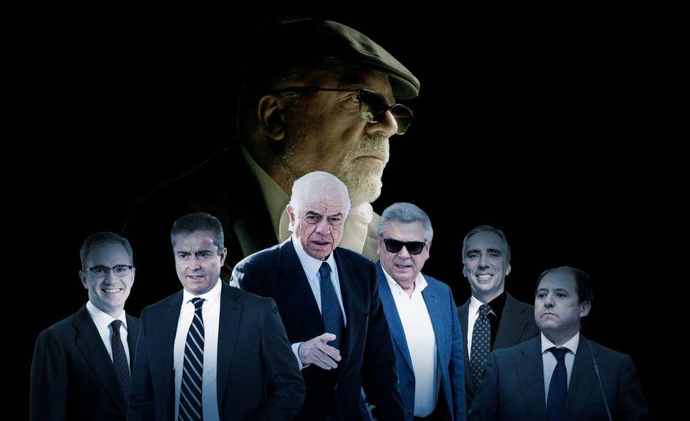 Foto: Eduardo Arbizu, Ángel Cano, Francisco González, Julio Corrochano, Juan Asúa y Antonio Béjar (de izq. a der.); y arriba José Manuel Villarejo. (Imagen: Enrique Villarino)
