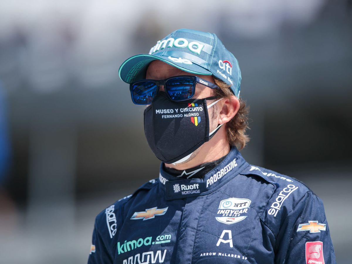 Foto: Fernando Alonso en Indianápolis. (USA TODAY)