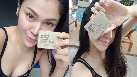 Jabón de cloro para blanquear las pieles asiáticas