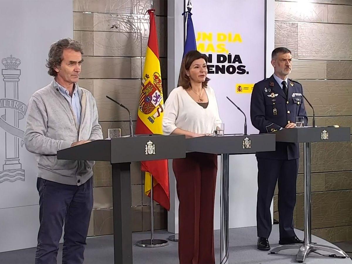 Foto: Rueda de prensa telemática del comité de seguimiento de la pandemia. (EFE)