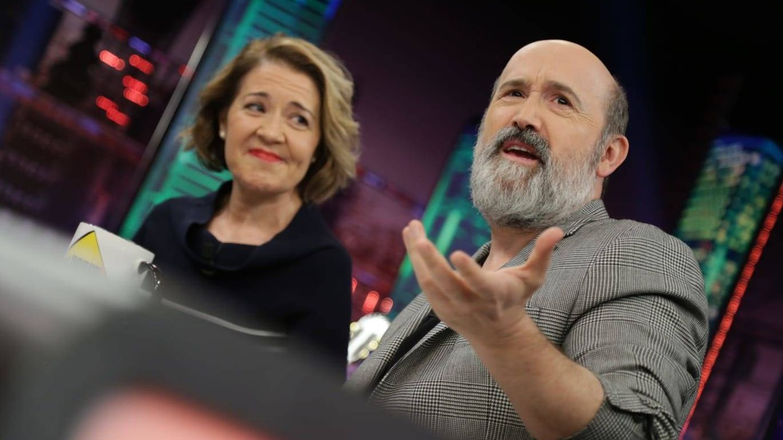 Javier Cámara y María Pujalte en 'El Hormiguero'. (Atresmedia)