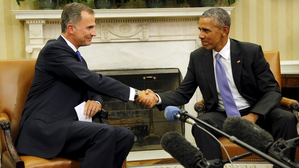 Foto: El Rey Felipe VI en su reunión con el presidente de EEUU, Barack Obama, en la Casa Blanca. (Reuters)