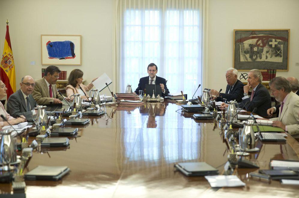 Foto: Rajoy en un Consejo de Ministros de este año (EFE)