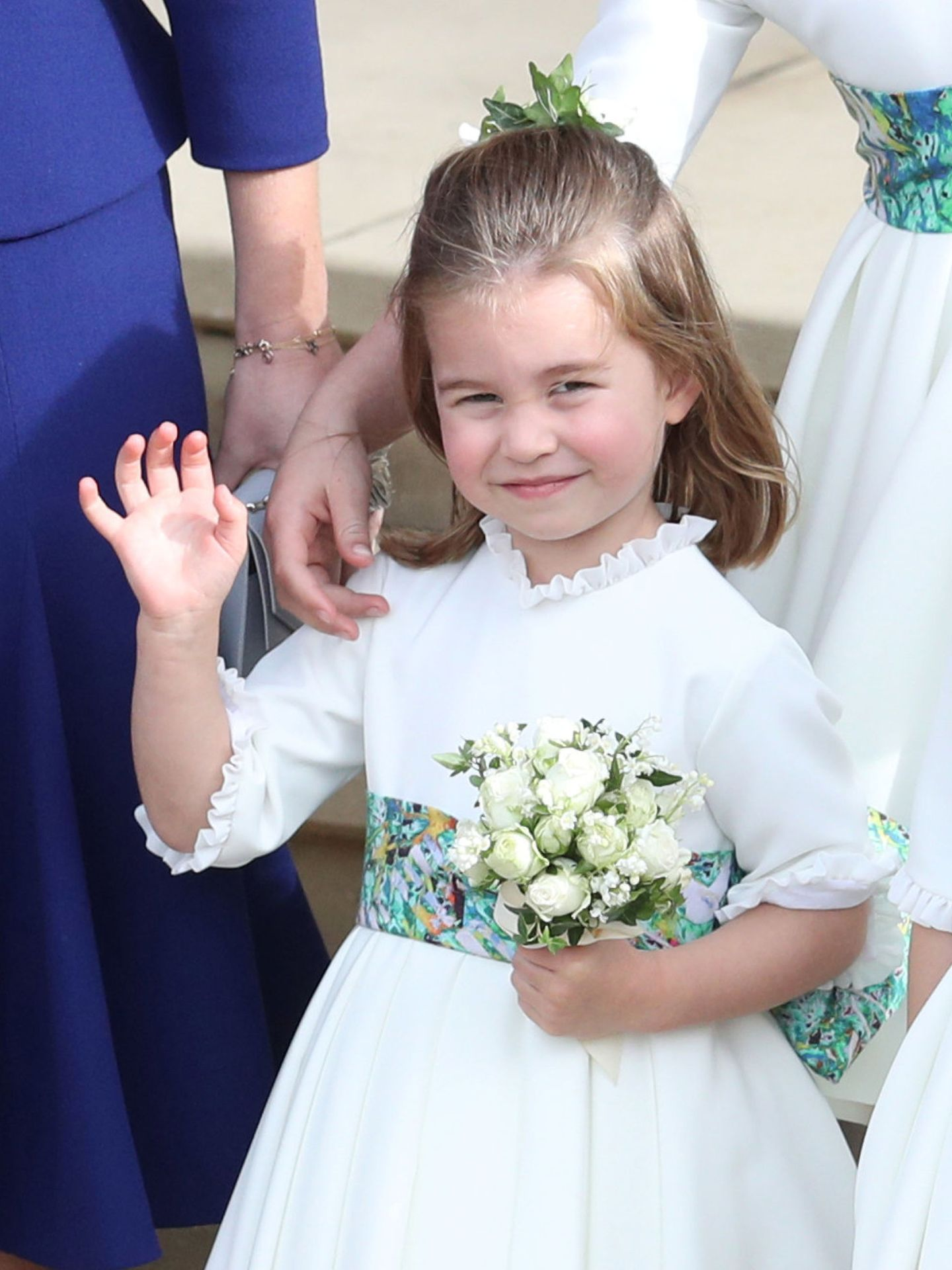 La princesa Charlotte en la boda de Eugenia de York y Jack Brooksbank. (Reuters)