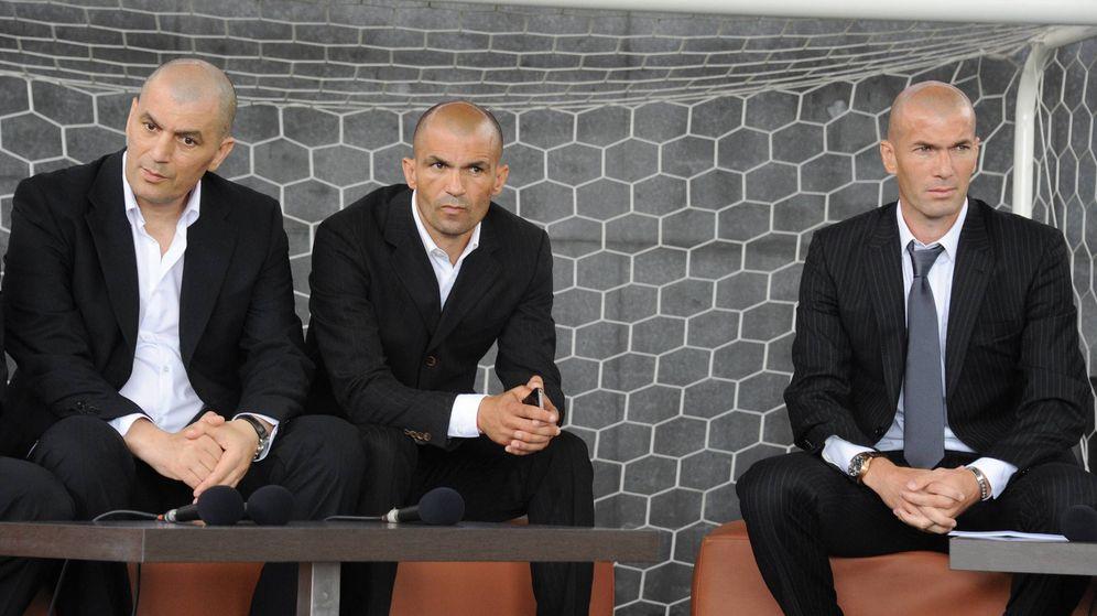 Foto: Tres de los hermanos Zidane en una imagen de 2011: Farid (i), Noureddine y Zinédine. (Imago)