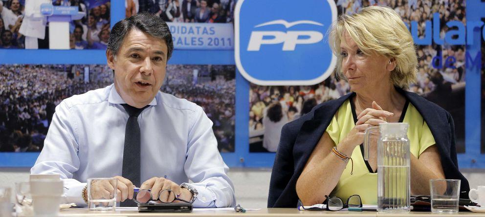 Foto: La presidenta del PP de Madrid, Esperanza Aguirre (d), junto al presidente de la Comunidad de Madrid, Ignacio González