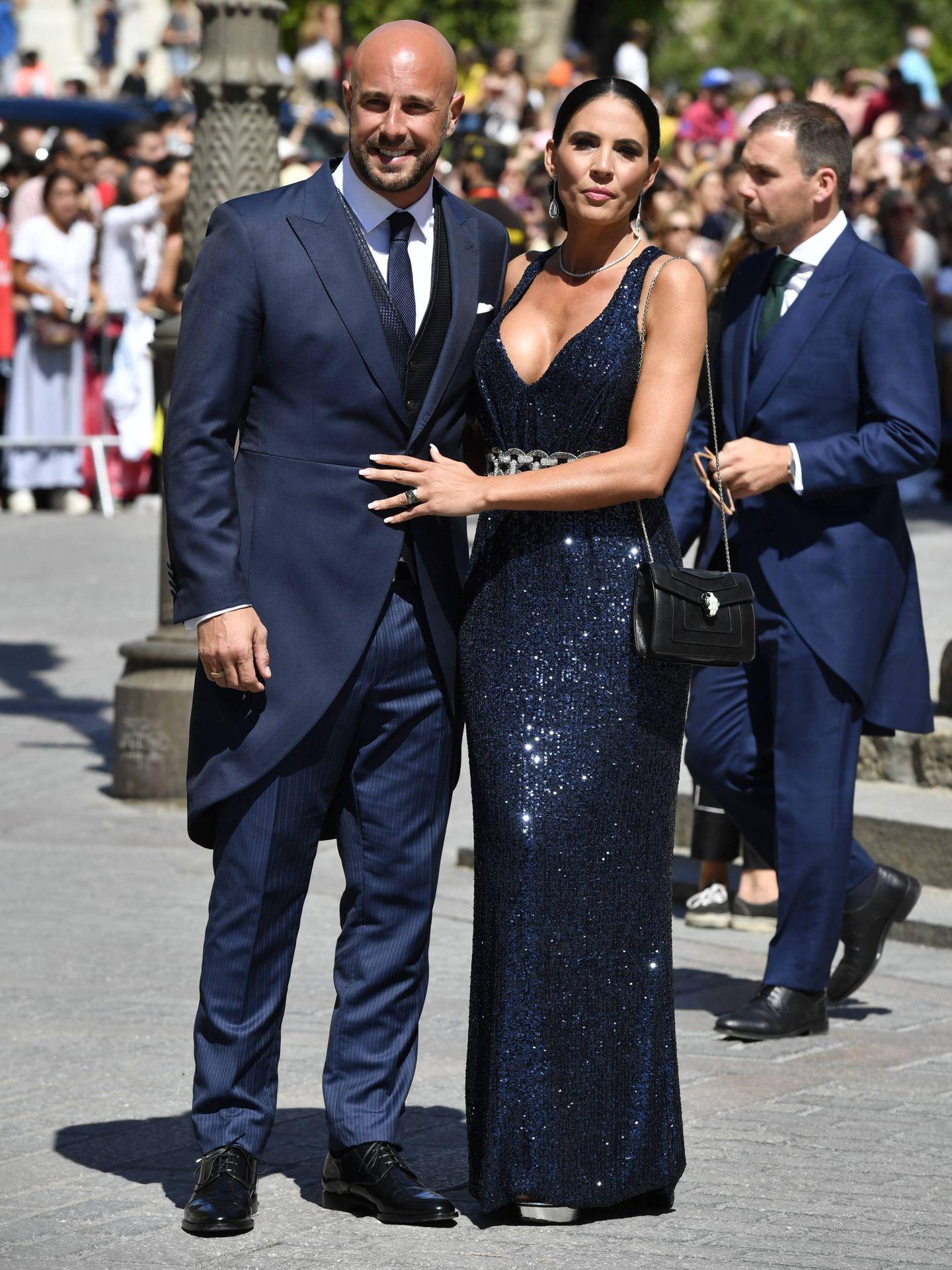 Pepe Reina y su mujer, Yolanda Ruiz. (Cordon Press)