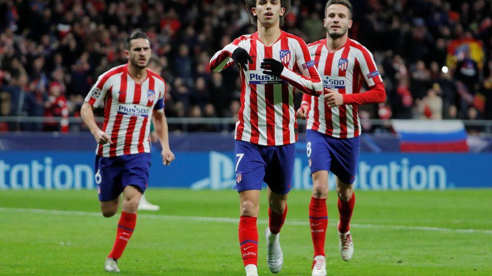 Foto: Joao Felix marcó el primer gol del Atlético de Madric contra el Lokomotiv de Moscú. (Reuters)