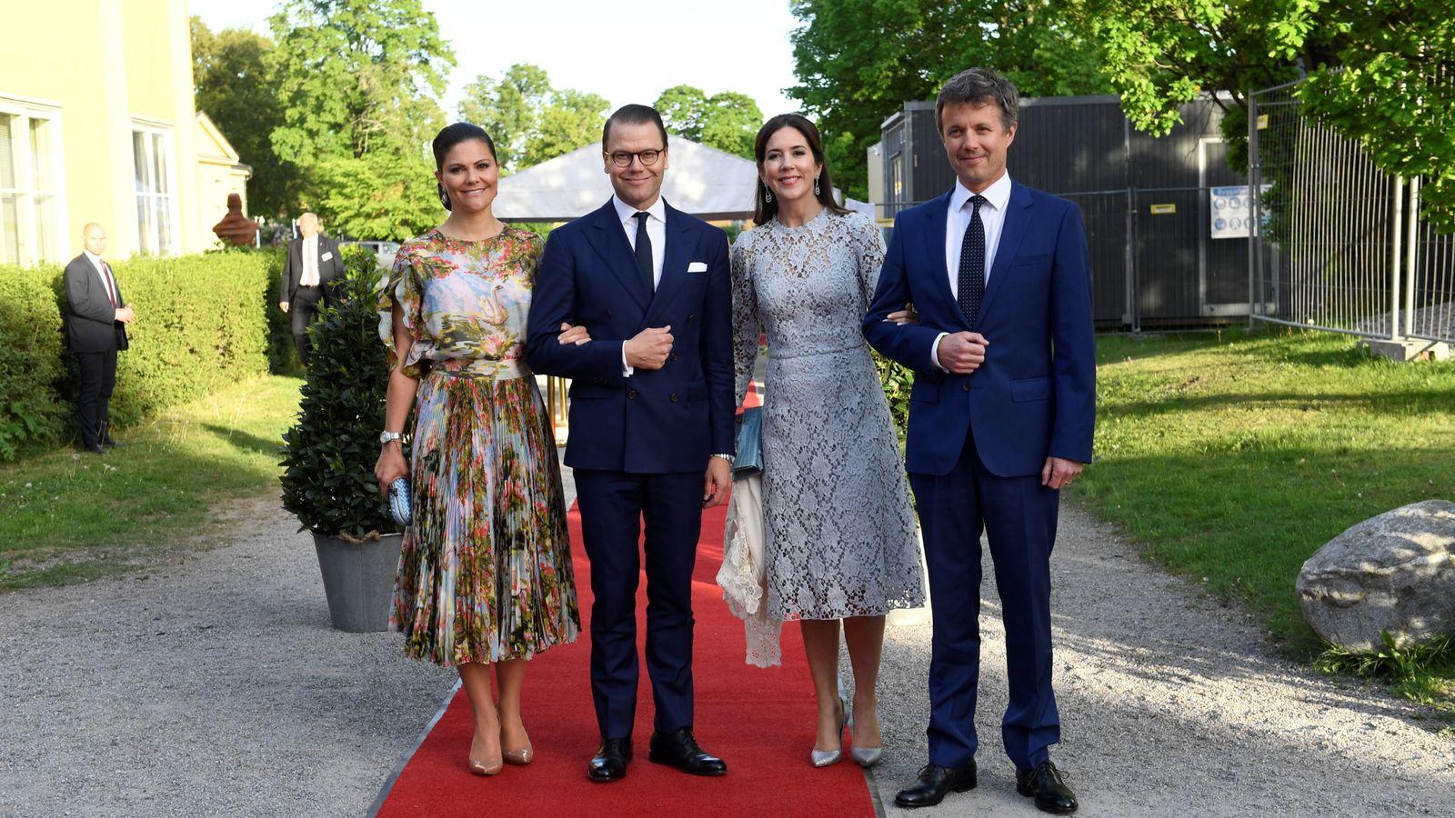 Foto: Los príncipes Federico y Mary de Dinamarca con los príncipes Victoria y Daniel de Suecia en una imagen de archivo. (Reuters)