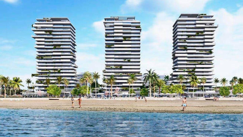 Las tres torres proyectadas de las Málaga Towers.