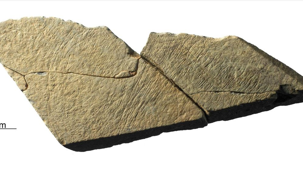 Foto: Un ejemplo de roca encontrada en Jersey. Foto: Twitter