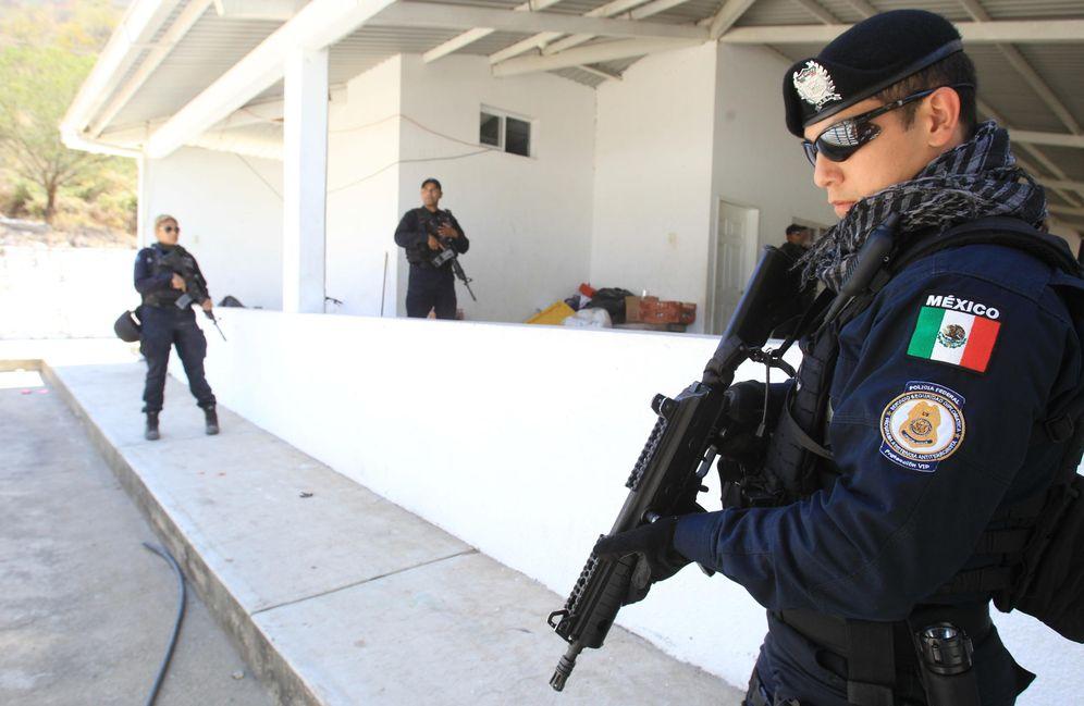 Foto: Policías federales mexicanos (Efe).