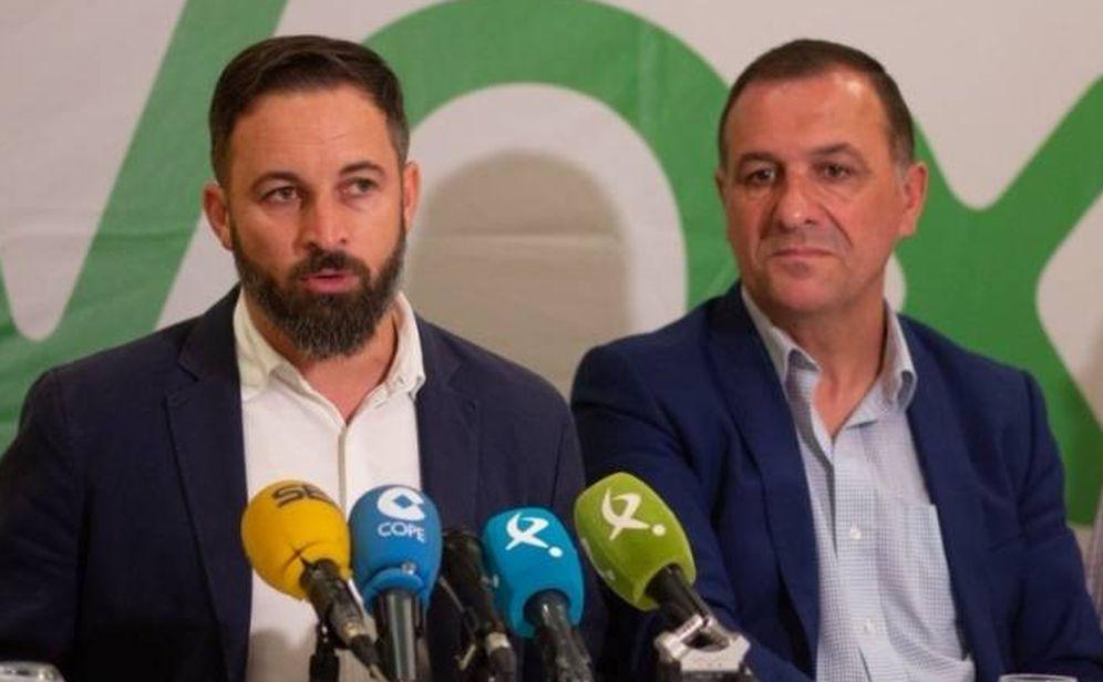 Foto: Santiago Abascal y José Antonio Morales, en una rueda de prensa el pasado mes de septiembre. (Vox)